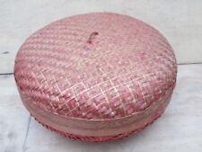 Thai style lidded basket.