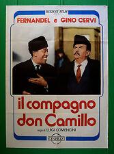 M33 MANIFESTO 2F IL COMPAGNO DON CAMILLO GINO CERVI FERNANDEL COMENCINI
