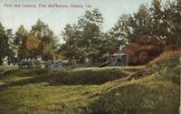 Postcard Park and Cannon Fort McPherson Atlanta GA Georgia