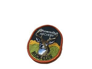 Vintage Browning Archery Buck Club Patch