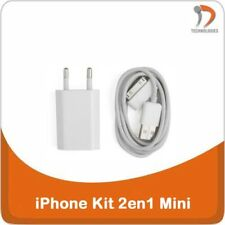 iPhone 3G 3GS 4 4S Chargeur 2en1 + Cable USB iPhone Oplader Charger 2in1