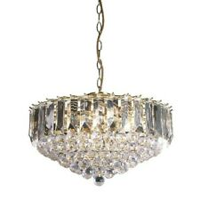 Milo Lighting 6 Light Crystal Chandelier In Brass Effect.