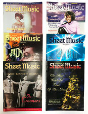 Sheet Music Magazine 1997 all 6 Issues for Piano and Guitar Popular Music