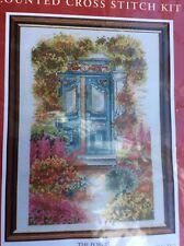 Anchor 14 cuenta Aida Cross Stitch Kit del Porche Jardín Flores Craft 22 X 14 Cm