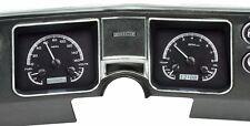 1968 Chevelle El Camino Dakota Digital Black Alloy & White VHX Analog Gauge Kit