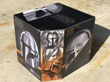 Electronic Prop Replica Mandalorian Helmet Star Wars Black Series FX TBS ....MIB