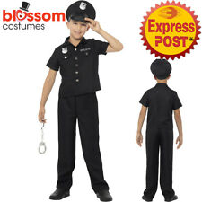 CK994 New York Police Officer Costume Child Cops Boys Book Week Uniform Outfit