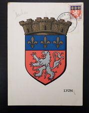 FRANCE PREMIER JOUR FDC YVERT 1181     ARMOIRIES      15F      LYON     1958