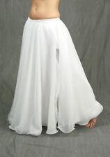White 2 Layer Reversible Slit Skirt Belly Dance Costume