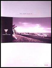 2001 Audi TT Sports Car Brochure