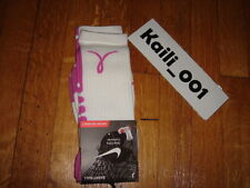 Nike Elite Basketball Socks L 8-12  Dri Fit Volt Breast Cancer Kay Yow B