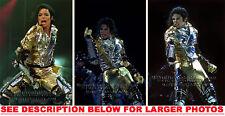 MICHAEL JACKSON HISTORY TOUR LIVE! (3) RARE 8x10 PHOTOS