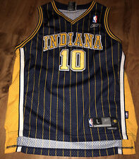 Jeff Foster Indiana Pacers Pinstripe Jersey Youth SIZE LARGE ADULT SMALL SEWN