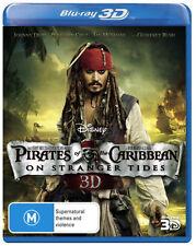 Pirates of The Caribbean 4: On Stranger Tides (3D Blu-ray) NEW Johnny Depp
