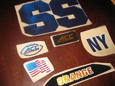 Syracuse Orange full size football helmets 3M vinyl decals Chrome Blue
