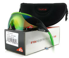 New Bolle AEROMAX Sport Sunglasses | 12267 Matte Black / Brown Emerald Lens