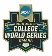 2018 COLLEGE WORLD SERIES PATCH BASEBALL OMAHA FULL COLOR EMBROIDERED SHIPS NOW!