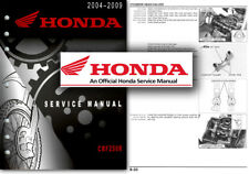 Honda CRF250R 2004 to 2009 Service Workshop Repair Shop Manual CRF 250 F CRF250