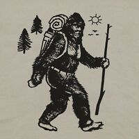 Bigfoot Camping T Shirt Hiker Tee Vintage Yellowstone Yosemite Men National Park