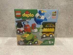 Lego 10886 Duplo My First Car Creations Building Bricks Set with 4 Vehicles