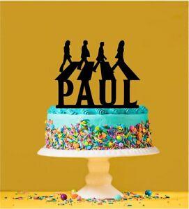 Personalised  Beatles Acrylic Cake Topper