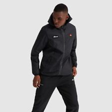 ELLESSE MEN'S SORTONI RAIN JACKET IN BLACK // BNWT //