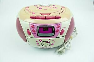 Hello Kitty Stereo CD Cassette Player Radio Boombox Sanrio KT2028A