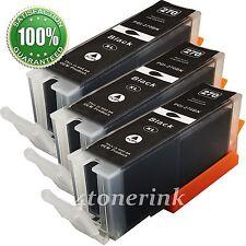 3PK PGI270 XL PGI-270XL Black Ink Cartridge For Canon PIXMA MG6820 MG6821 MG6822