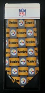 Pittsburgh Steelers Necktie with Steelers Logo New