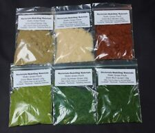 Static Grass Flock for Model Railway - 2mm Multipack -6 Packets Scenery Diorama