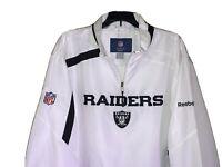Raiders Reebok Pullover Windbreaker Jacket White XXL