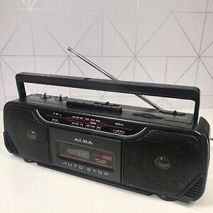ALBA SCR133 Retro Cassette Radio Tape Player Recorder Portable