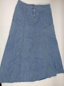 Sigrid Olsen Womens Maxi Skirt Size 6 Denim Medium Wash 2 Pocket - BB17