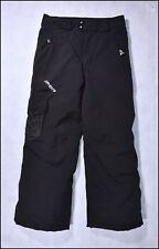 SPYDER INSULATED SKI SNOWBOARD PANTS KIDS JUNIOR US 10 BLACK