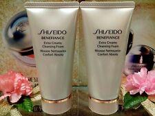☾2 PCS☽Shiseido Benefiance Extra Creamy Cleansing Foam◆☾50ml☽◆✰☾Brand New Gift☽✰