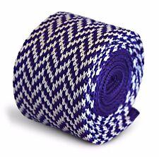 Frederick Thomas tricoté mince CADBURY violet et blanc en épi Cravate ft3283