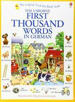 First Thousand Words in German by Heather Amery, NEW Book, FREE & FAST Delivery,
