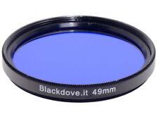 49mm. filtro Blu Blackdove-cameras. Diametro 49 mm.