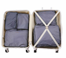 5X Grey Women Waterproof Packing Travel Luggage Organizer Clothes Storage Bags