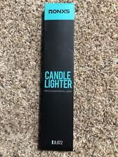 RONXS Lighter, Candle Lighter with Safety Design Cover, Battery (Black)