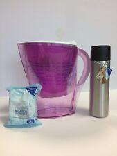 Caraffa filtrante per acqua Brita con un filtro e borraccia termica compresa