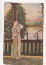 Elmi Im Klostergarten [524] Vintage Art Postcard 219b