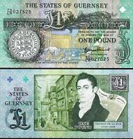 Guernsey 1 Pound 2013 , UNC , Commemorative , P-62 , Thomas De La Rue