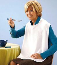 Bavaglino Bavaglio Bavetto Bavero Per Adulti Anziani Bianco 60x40cm dfh