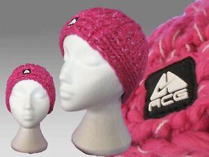 NIKE Womens Ladies ACG Heavyknit Snow Ski Hat Beanie Pink AUTHENTIC