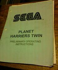 Sega PLANET HARRIERS TWIN Twin Cockpit Arcade Video Game Manual- used original