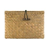 Seaweed Storage Cube Basket Bin Organizer Closet Container Drawer Lid Yellow