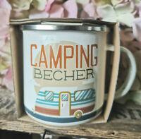 Camping Becher Wohnmobil Wohnwagen Zelt Emaille Tasse 370ml Metall Kaffeebecher
