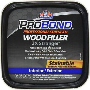 Elmer's P9892 Probond Stainable Interior/Exterior Wood Filler, 1 Quart, 32 oz