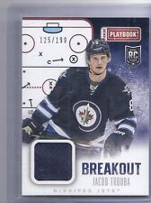 13-14 2013-14 PLAYBOOK JACOB TROUBA BREAKOUT ROOKIE JERSEY /199 B-JTR JETS